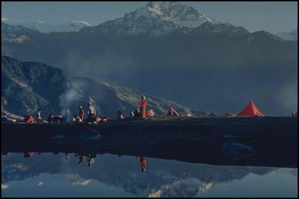 Композиция - горное озеро