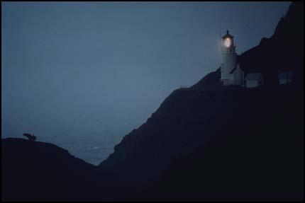 Композиция, правило третей - маяк на берегу